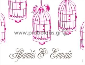 Σουπλά πουλάκια κλουβάκι