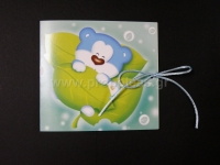 Προσκλητήριο μπλε αρκουδάκι